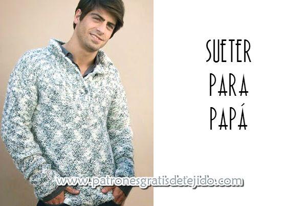 tutorial de tejido de pulover para hombre