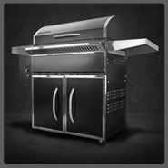 Introducing Traeger SELECT. Sleek design, stainless steel trim, side tables, enclosed storage space, and 37% more grilling space! Buy yours today available at Builders!