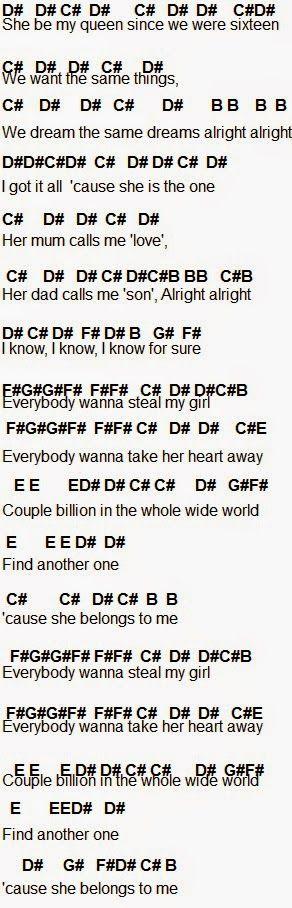 Flute Sheet Music: Steal My Girl