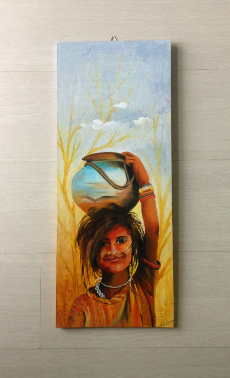 Oil painting .Indian chid portrait on recycle wood www.etsy.com/it/listing/263861315/dipinto-ad-olio-su-legno-ritratto-di?ref=shop_home_active_1