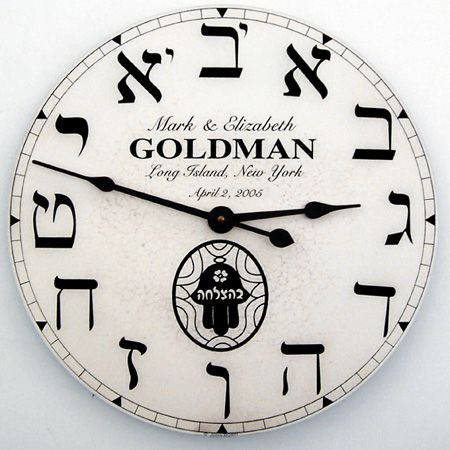 wal clock -Goldman -Hebrew numbers