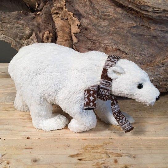 Πολική Αρκούδα Με Κασκόλ