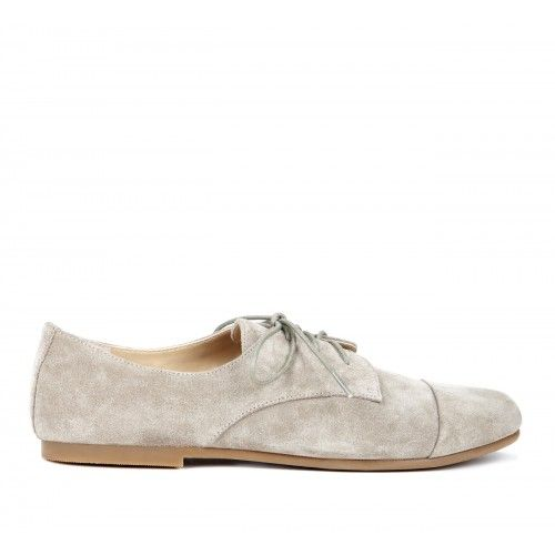 Frieda suede oxford - Fennel
