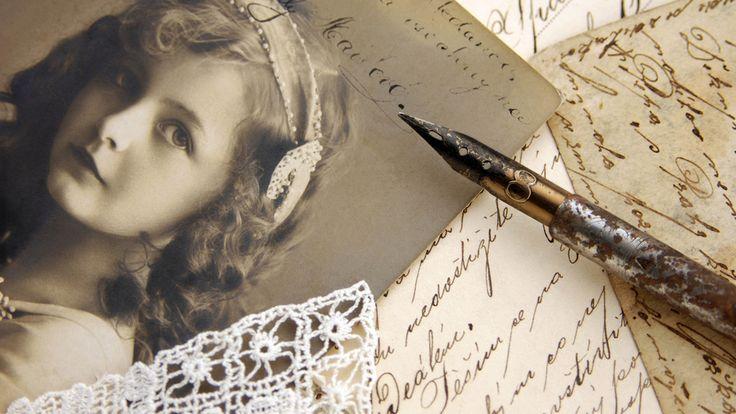 винтаж, письма, сепия, девочка, Vintage, фотография, строки