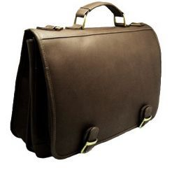 Andino Leather Mini Laptop Flap Brief by Dilana™ #travel  #minilaptop #leather #brief