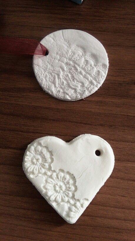 Up: das clay vs down: baking soda clay,ornaments!