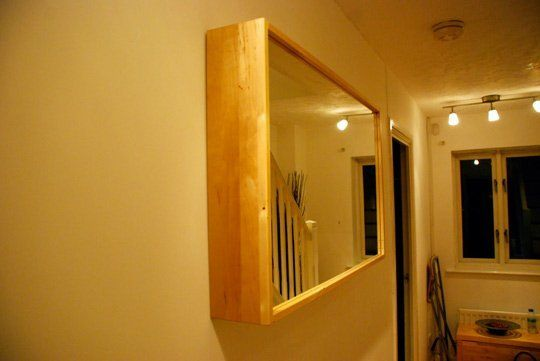 How to Hide Thermostats and Door Buzzers with a hinged mirror