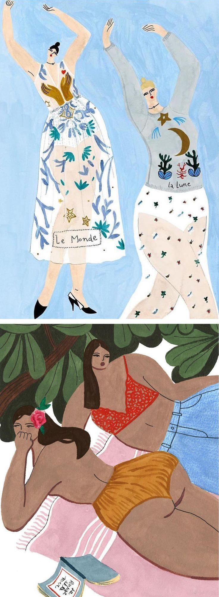 Isabelle Feliu fashion illustration #lifestyleillustration #ilustratedladies #curvyladies