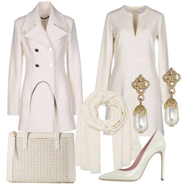 Sinonimo di purezza e luminosità il total white comunica distinzione e una forte sicurezza d'animo. Per il lavoro o un evento, un outfit per impressionare con classe ed eleganza.