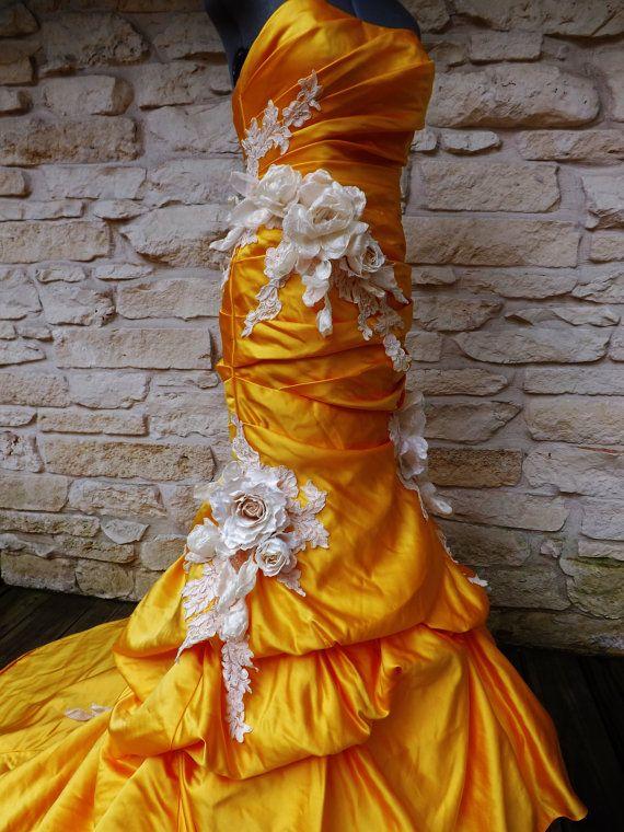 Mermaid Trumpet Dress Roses by Arabescque