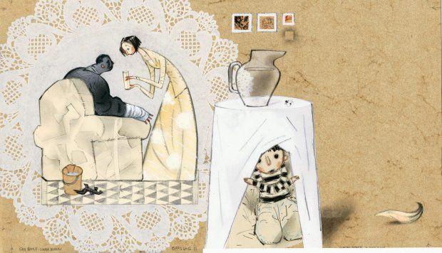Ilustracje Sveina Nyhusa z książki Gro Dahle i Svein Nyhus ''Zły Pan'' - zdjęcie
