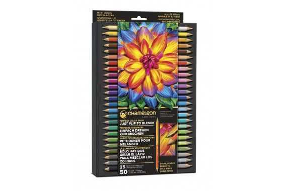 Coffret Deluxe Crayons de couleur double-pointe