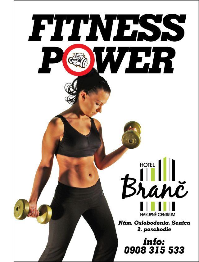 Návrh plagátu - Fitness Power, Senica