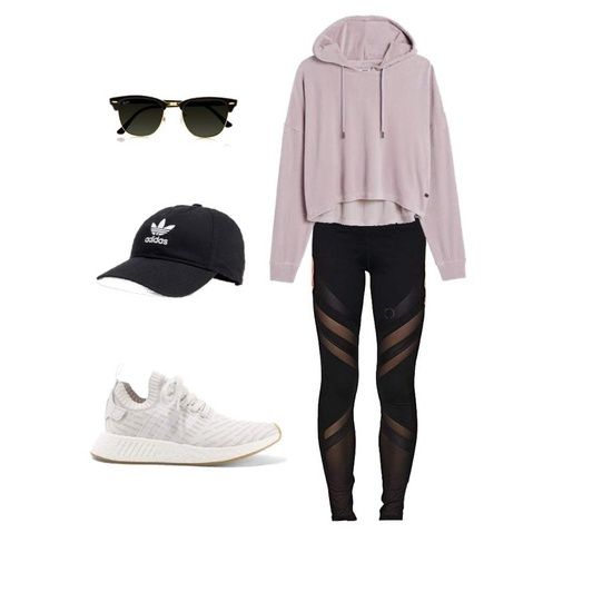 Lazy day outfit ideas for school, casual style and fashion, leggings cute - Mallorymaliboo