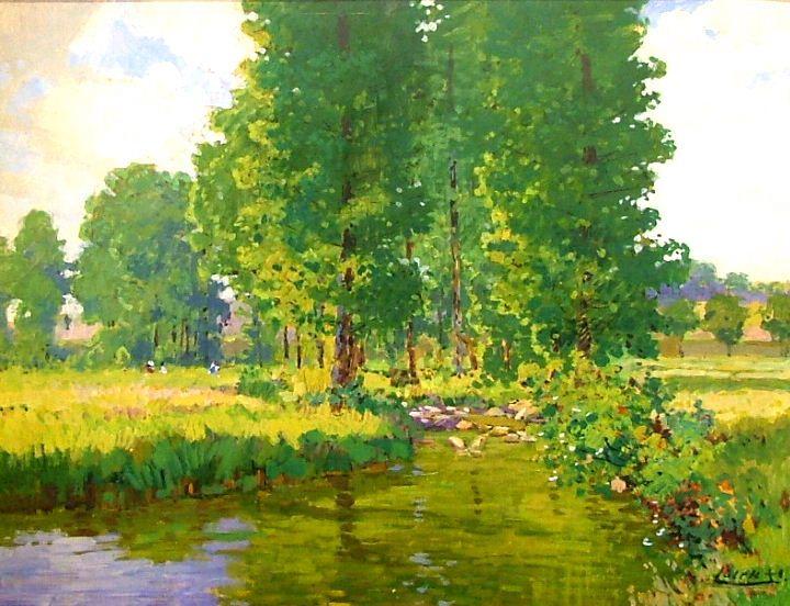 STANISLAV LOLEK (1873-1936) Summer landscape