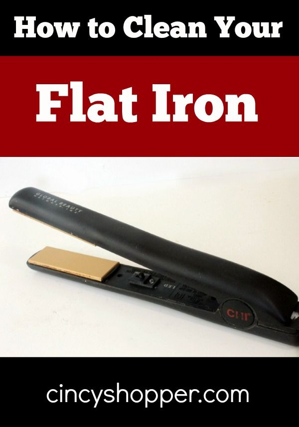 how to clean flat iron for hair