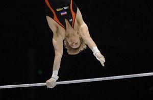 Epke Zonderland wereldkampioen turnen op onderdeel rekstok....6oktober 2013.