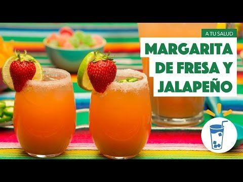 ¿Cómo preparar Margarita de Fresa y Jalapeño? - Cocina Fresca