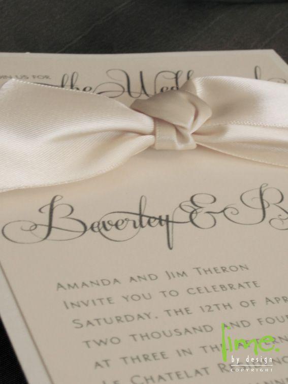 Satin knot on invite