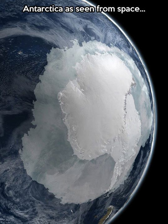 The Coldest Continent From Space