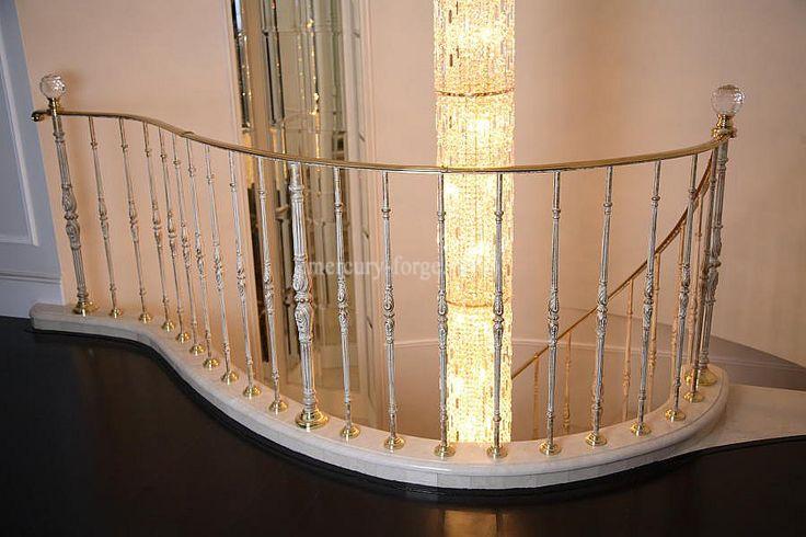 """Лестничное ограждение производство Grande forge, серия """"Художественное литьё"""" - «Mercury Forge» #stairs #decor #home #grandeforge #художественноелитьё #mercuryforge #лестницы #ограждения #москва #дом #интерьер"""