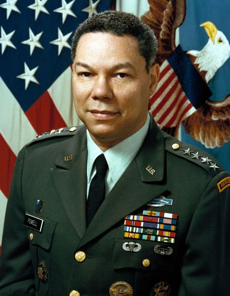 Colin Luther Powell is a United States statesman and a retired four-star general in the United States Army.  He was the 65th United States Secretary of State (2001-2005), serving under President George W. Bush. He was the first African American appointed to that position. He was the first, and so far the only, African American to serve on the Joint Chiefs of Staff.