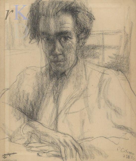 Paul Citroen 1956 Portret van Karel Bleijenberg (1913-1981)