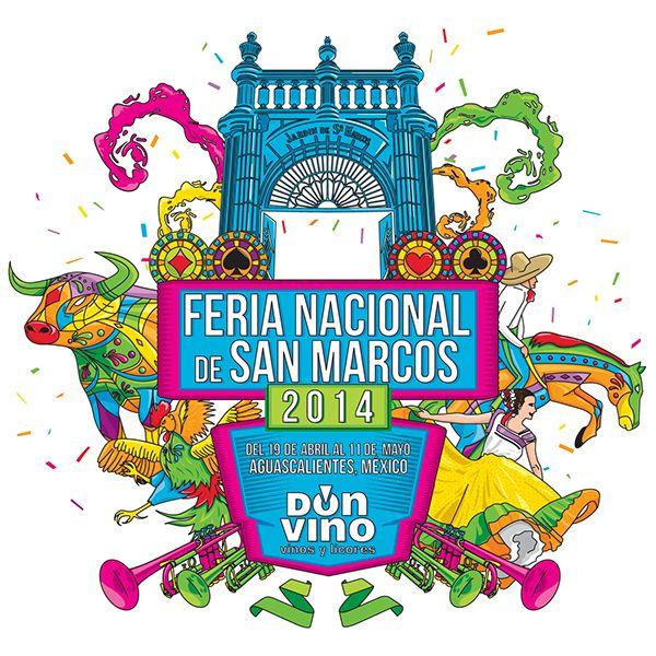 Cartel elaborado para Don Vino durante la Feria Nacional de San Marcos, para aplicar la imagen dentro de sus sucursales en el perímetro ferial. Así como en todo lo relacionado a la imagen durante ese tiempo de fiesta.