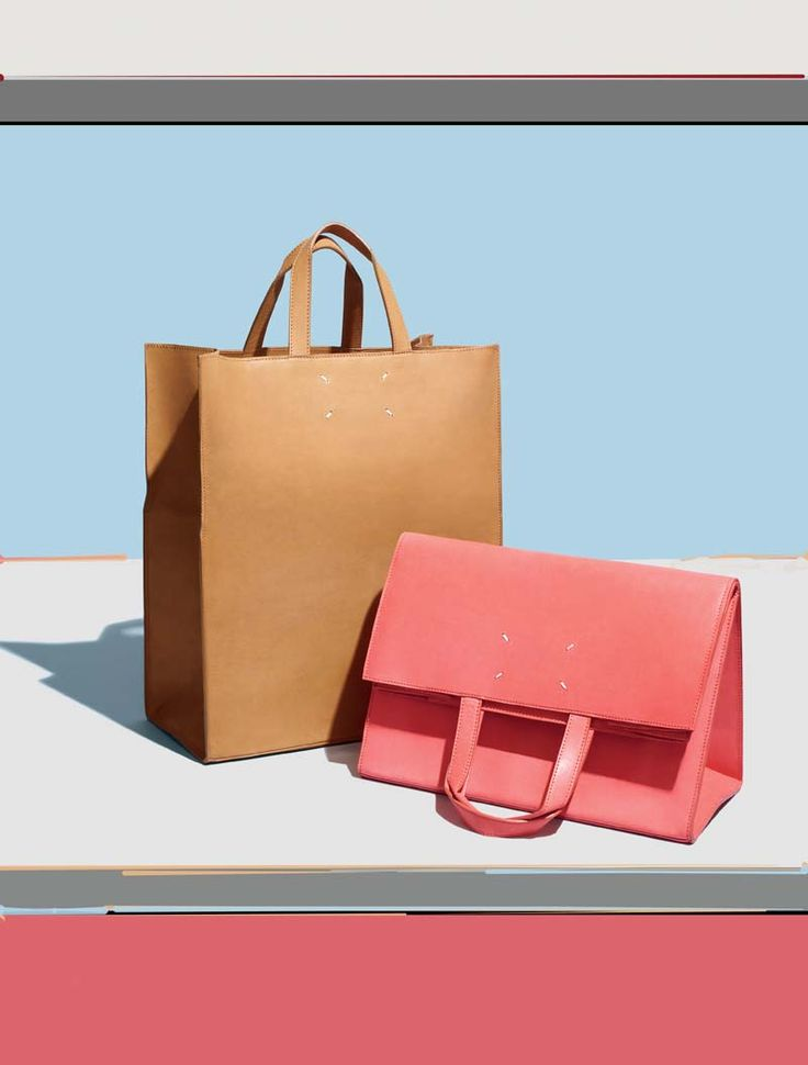 Exclusively sold at Barneys New York in pink-red and camel, Maison Martin Margiela invites you to discover the new Spring-Summer 2013 series of shopping bags that can be folded and carried as clutch bags.