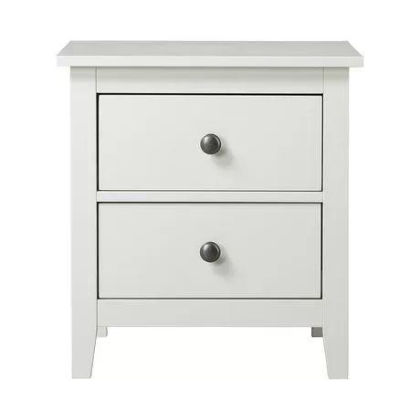 table de nuit stratifi e avec 2 tiroirs de dellys collection de couleur blanche au. Black Bedroom Furniture Sets. Home Design Ideas