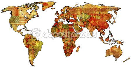 Morocco on world map — Stock Image #2894236