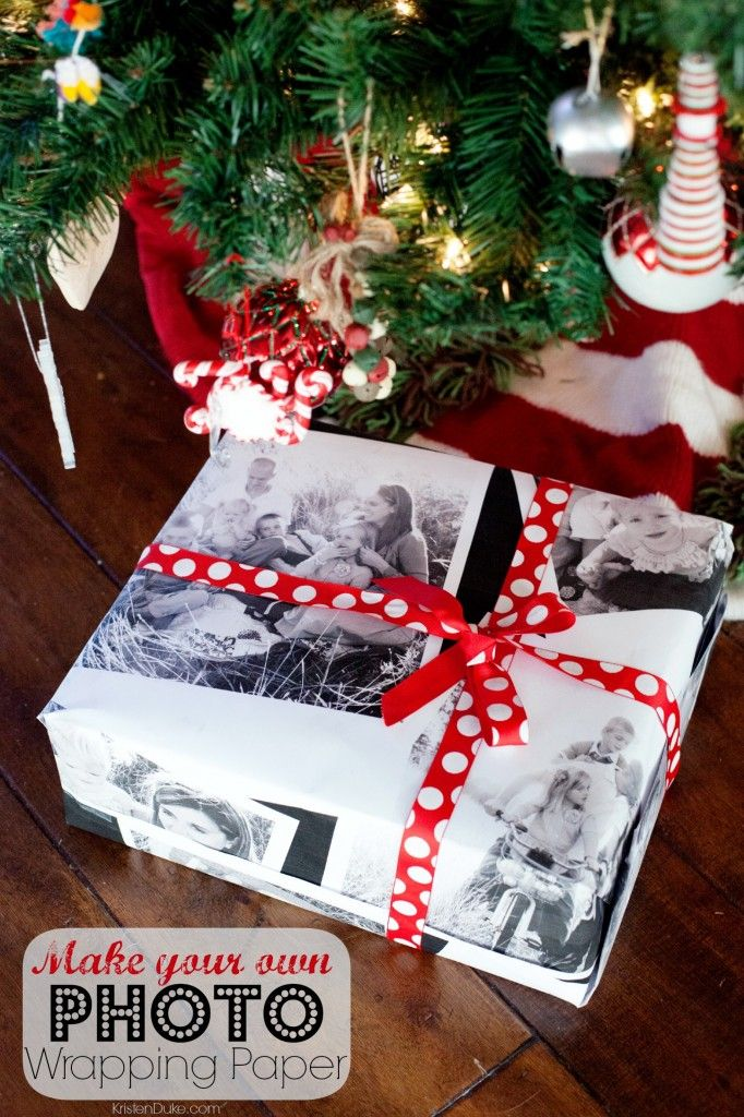 Photo Wrapping Paper and other unique holiday gift wrap Ideas for Christmas KristenDuke.com