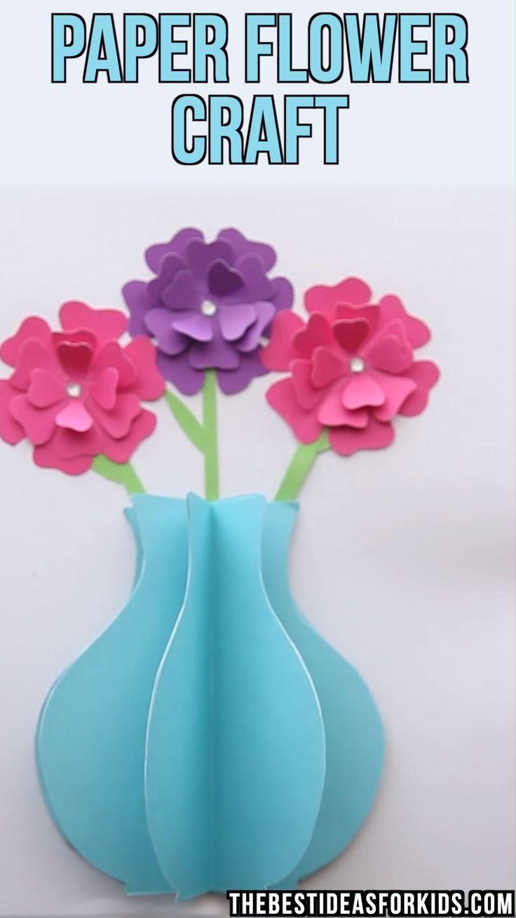 PAPER FLOWER CRAFT – #activities #Craft #Flower #P…