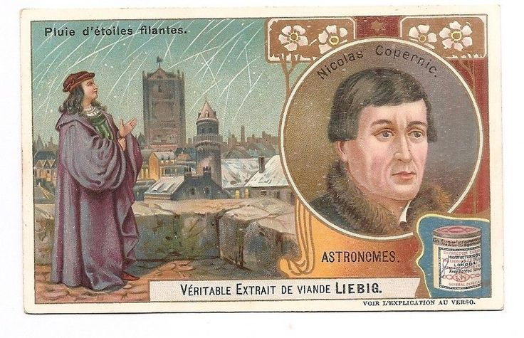Nicolas Copernic - Etoile filante Astronomie - Chromo Liebig - Trade Card