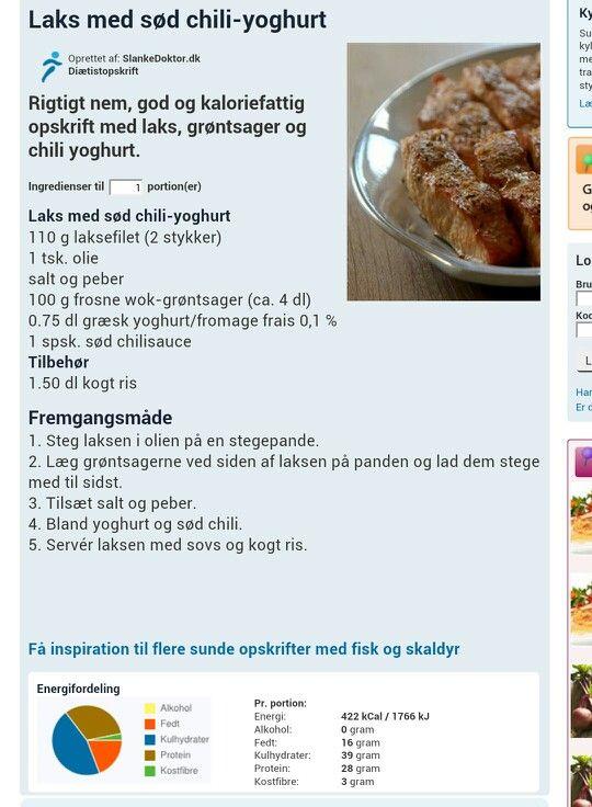 Laks m. sød chili-yoghurt