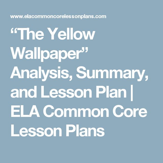Argumentative essay the yellow wallpaper