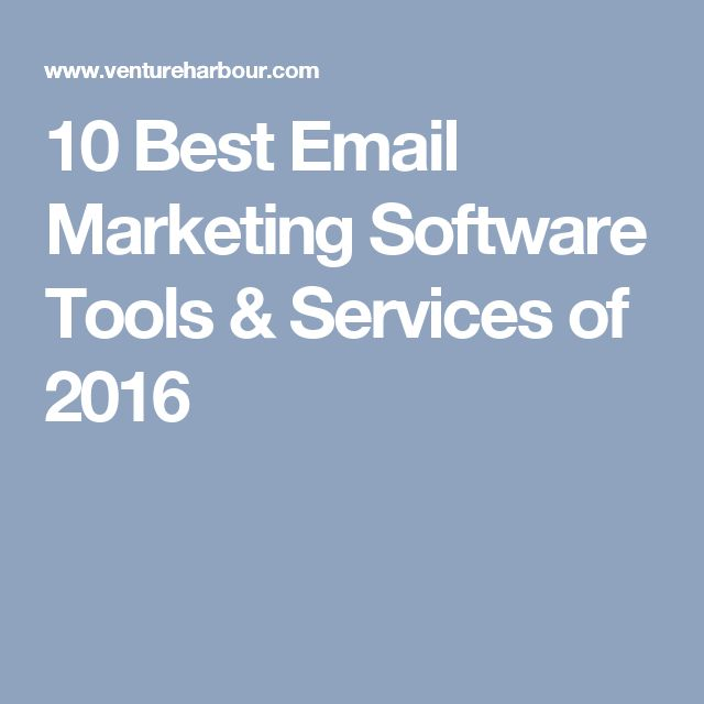 10 Best Email Marketing Software Tools & Services of 2016