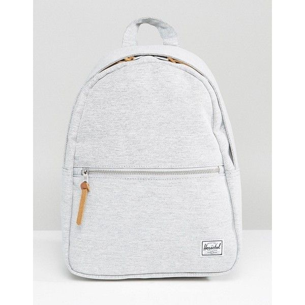 Herschel Supply Co. Town Mini Backpack ($71) ❤ liked on Polyvore featuring bags, backpacks, grey, american backpack, shopper handbag, mini bag, backpack bags and travel rucksack