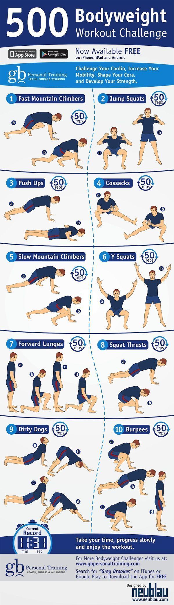 500 Bodyweight Workout Challenge