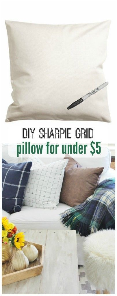 DIY Sharpie Pillow For Under $5