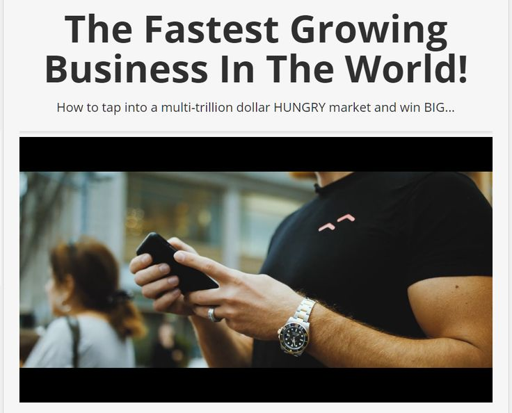 According to Business News Daily, E-Commerce is one of the fastest growing industries in the world today and the opportunity to win here is tremendous.  Most, however, are doing it wrong.  Here's the way to go - watch this video and see.
