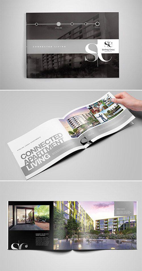 9 best real estate brochures images on pinterest for Real estate brochure design inspiration