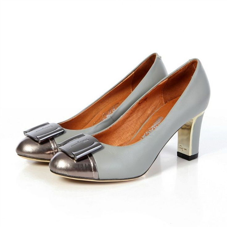 Pump in Grey and Silver Salvatore Ferragamo Womens