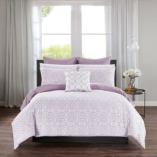 Shop for Chic Home Rajiv Lavender 10 Piece Bed in a Bag Reversible Comforter Set. Get free shipping at Overstock.com - Your Online Fashion Bedding Outlet Store! Get 5% in rewards with Club O! - 23073626