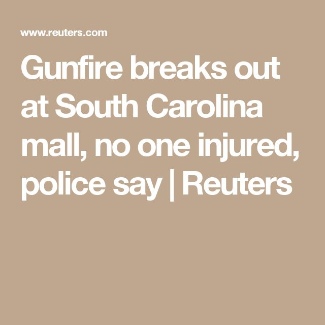 Gunfire breaks out at South Carolina mall, no one injured, police say | Reuters
