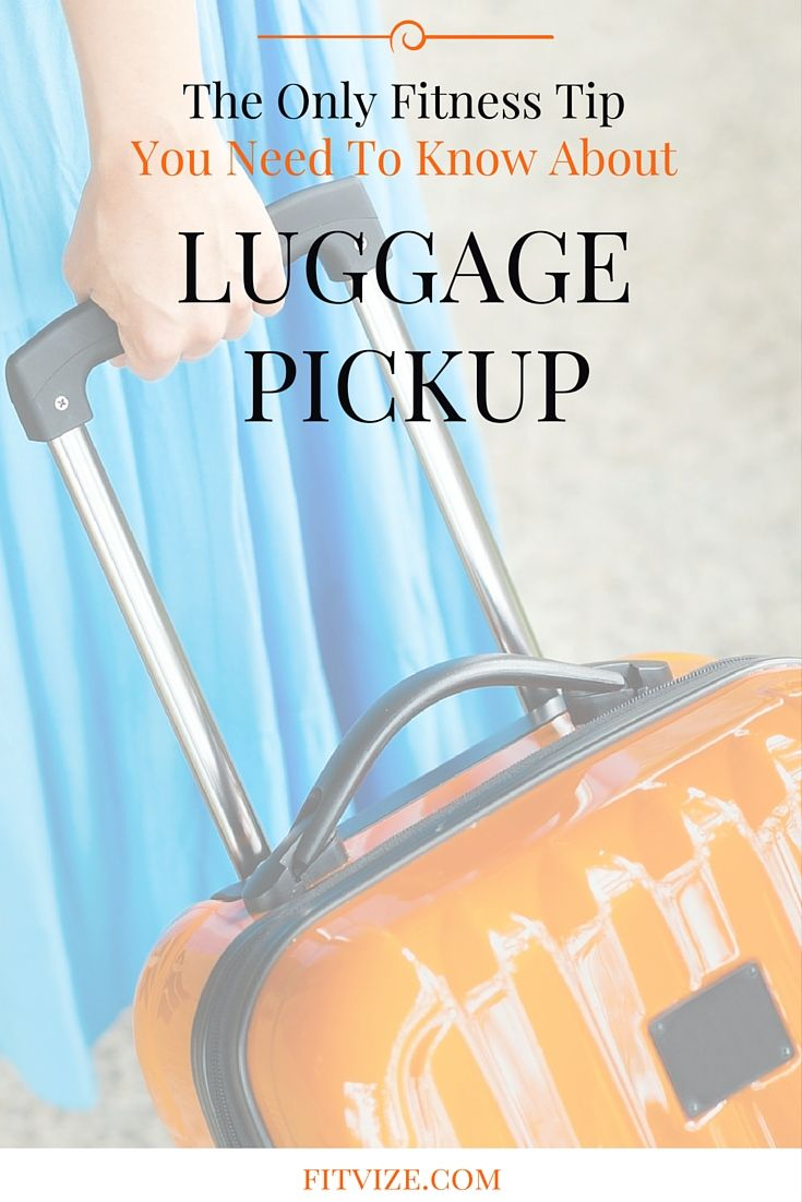THE ONLY TIP YOU NEED TO KNOW ABOUT LUGGAGE PICKUP: try to pull it from the baggage line with all the weight of your body (abs in, all body leans backwards), instead of trying to lift it with your back. It is the core of back pain prevention science. Find out more at fitvize.com