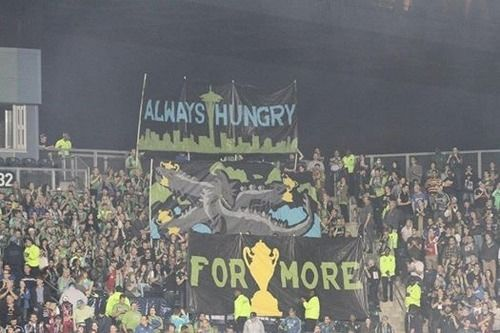 Emerald City Supporters (Seattle Sounders FC) away at Philly for US Open Cup Final. Cred - Denise McCooey