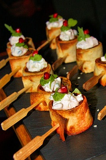 Diwali Banquet - Lamb mince kebab wrapped in roomali bread, corander chutney by nicisme, via Flickr