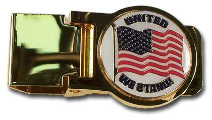 United We Stand Brass Money Clip
