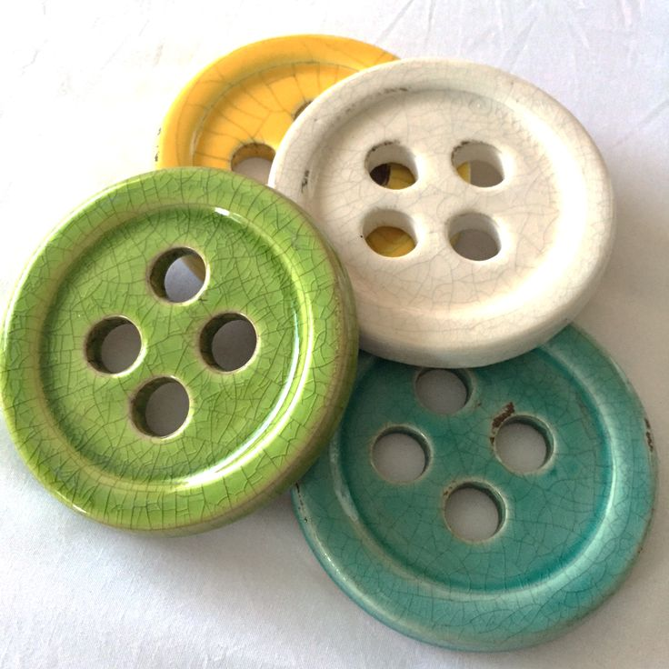 I want these!! Ceramic Button Pattern Weight Set